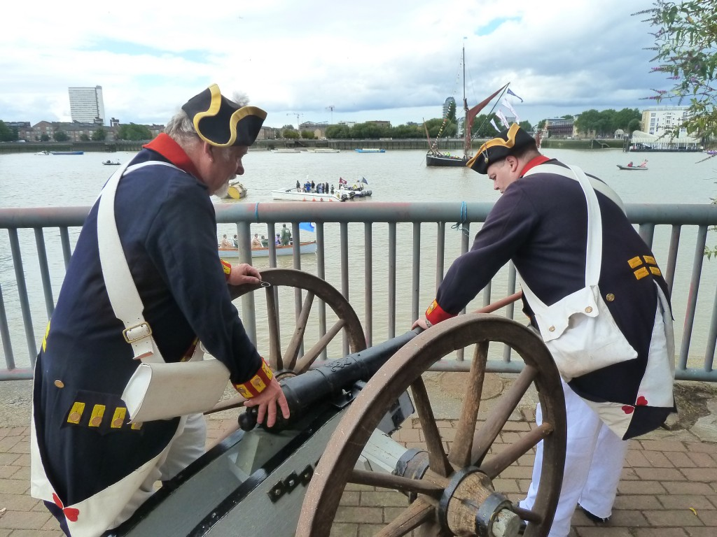Loading the charge for the cannon