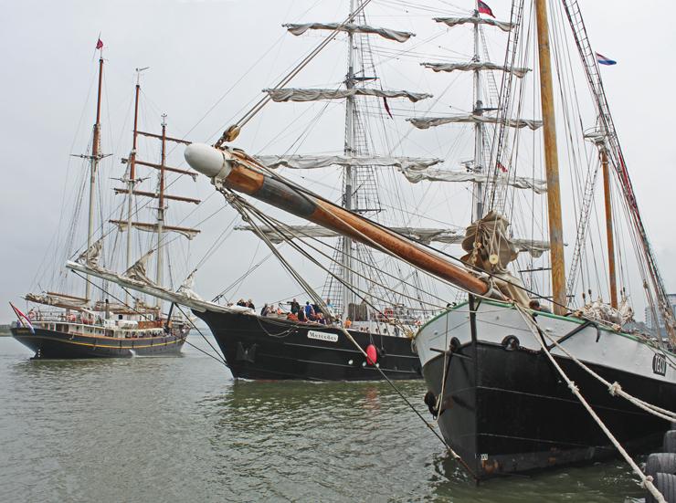 Tall ships at Woolwich. Photo: David Graham