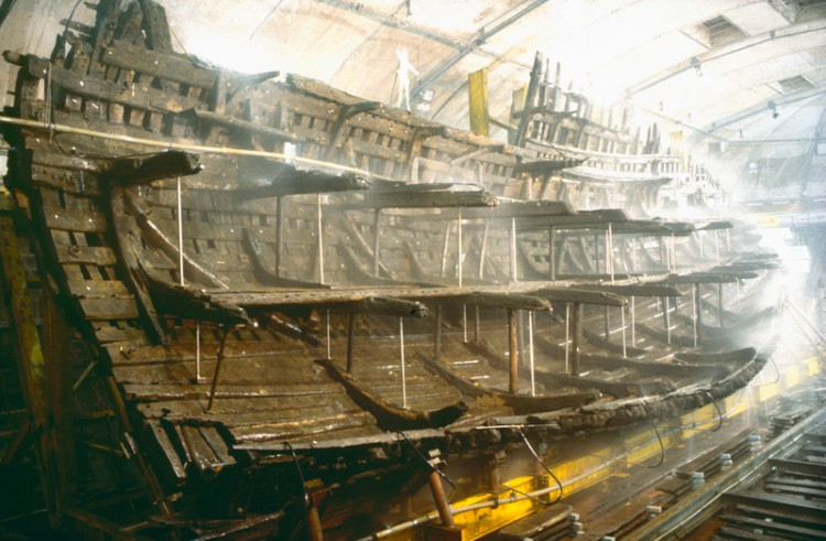 The wreck of the Mary Rose (copyright Mary Rose Museum)